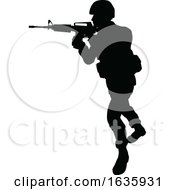 Poster, Art Print Of Silhouette Soldier
