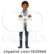 Poster, Art Print Of Young Asian Medical Doctor Cartoon Character