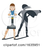 Young Medical Doctor Super Hero Cartoon Mascot by AtStockIllustration