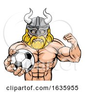 Viking Soccer Football Sports Mascot by AtStockIllustration