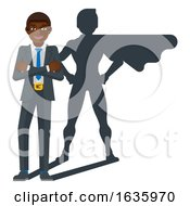 Business Person Super Hero Cartoon Mascot