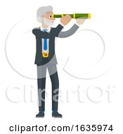 Telescope Spyglass Character Business Concept by AtStockIllustration #COLLC1635974-0021