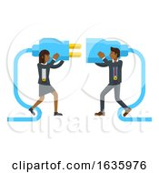Poster, Art Print Of Connecting Plug Fitting Together Business Concept