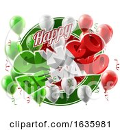 Cinco De Mayo Mexican Holiday Balloons Background