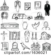 Poster, Art Print Of Black And White Death And Religion Icons