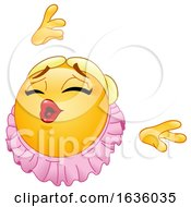 Poster, Art Print Of Ballerina Emoji Emoticon Smiley Dancing