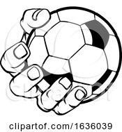 Poster, Art Print Of Hand Holding Soccer Ball