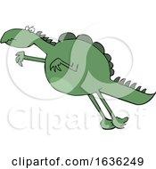 03/24/2019 - Cartoon Leaping Dinosaur