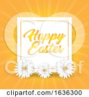 Poster, Art Print Of Easter Background With Daisies