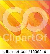 Poster, Art Print Of Orange Retro Background