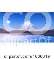 3D Snowy Mountain Landscape