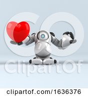 Poster, Art Print Of 3d Cyclops Robot On A Shaded Background