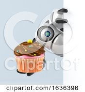 3d Cyclops Robot On A Shaded Background by Julos