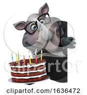 3d Business Rhinoceros On A White Background by Julos