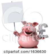 3d Chubby Pig On A White Background