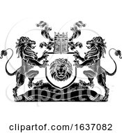 03/25/2019 - Lion Heraldic Coat Of Arms Shield Crest Emblem