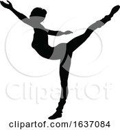 Ballet Dancing Silhouette