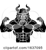 Viking Cartoon Sports Mascot by AtStockIllustration