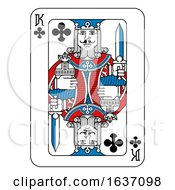 Playing Card King Of Clubs Red Blue And Black