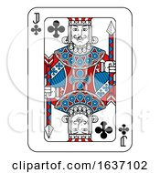 Playing Card Jack Of Clubs Red Blue And Black