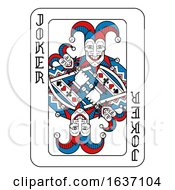 Playing Card Joker Red Blue And Black