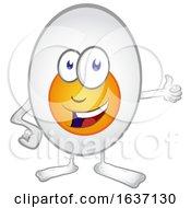Happy Egg Mascot Giving A Thumb Up