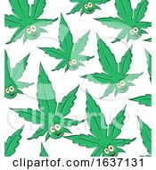 Cannabis Pot Leaf Mascot Pattern