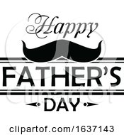 Black And White Happy Fathers Day Design