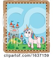 Border Of A Unicorn And Castle
