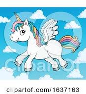Cute Flying Unicorn