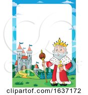 King Standing Near A Castle Border by visekart