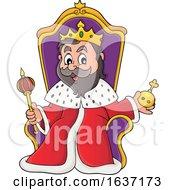 King Sitting On A Throne