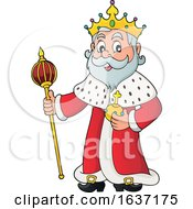 King Holding A Scepter