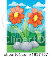 Poster, Art Print Of Spring Time Daisy Flowers
