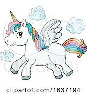 Cute Flying Unicorn by visekart
