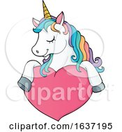 Poster, Art Print Of Cute Unicorn And Heart