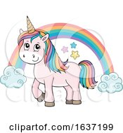 Cute Unicorn And Rainbow by visekart