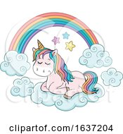 Cute Unicorn And Rainbow