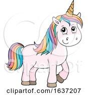 Cute Unicorn With Rainbow Hair by visekart