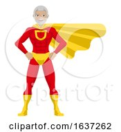 Superhero Mature Man Cartoon