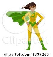 Asian Super Hero Woman Cartoon