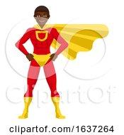 Black Super Hero Man Cartoon