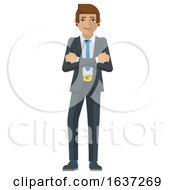 Business Man Cartoon Character Mascot