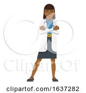 Young Woman Medical Doctor Cartoon Mascot