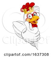 King Chicken Rooster Cockerel Bird Crown Cartoon