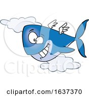 Cartoon Happy Flying Whale
