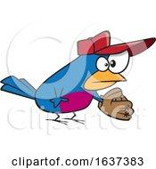 Cartoon Baseball Bird