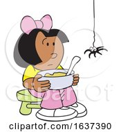 Black Little Miss Muffet And Spider