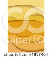 Abstract Yellow And Orange Flyer Background