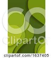 Abstract Green Flyer Background